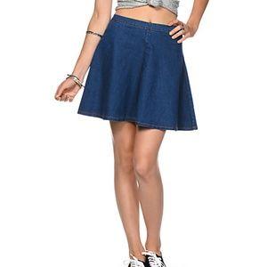 Dresses & Skirts - NoBo Stretchy Denim Skater Skirt